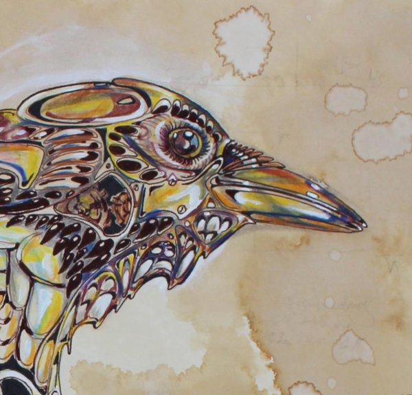 Drawn steampunk raven IliEve Twitter 8 2 &