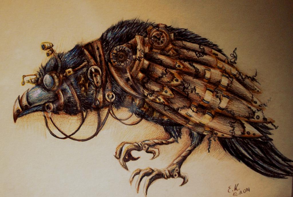 Drawn steampunk raven On by Steampunk LadyKnishe Raven