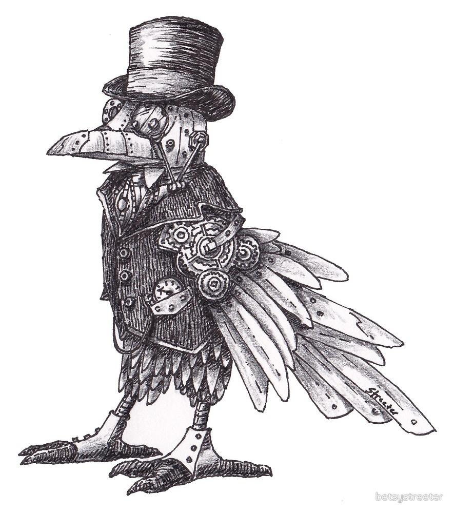 Drawn steampunk raven Steampunk Steampunk Raven Raven
