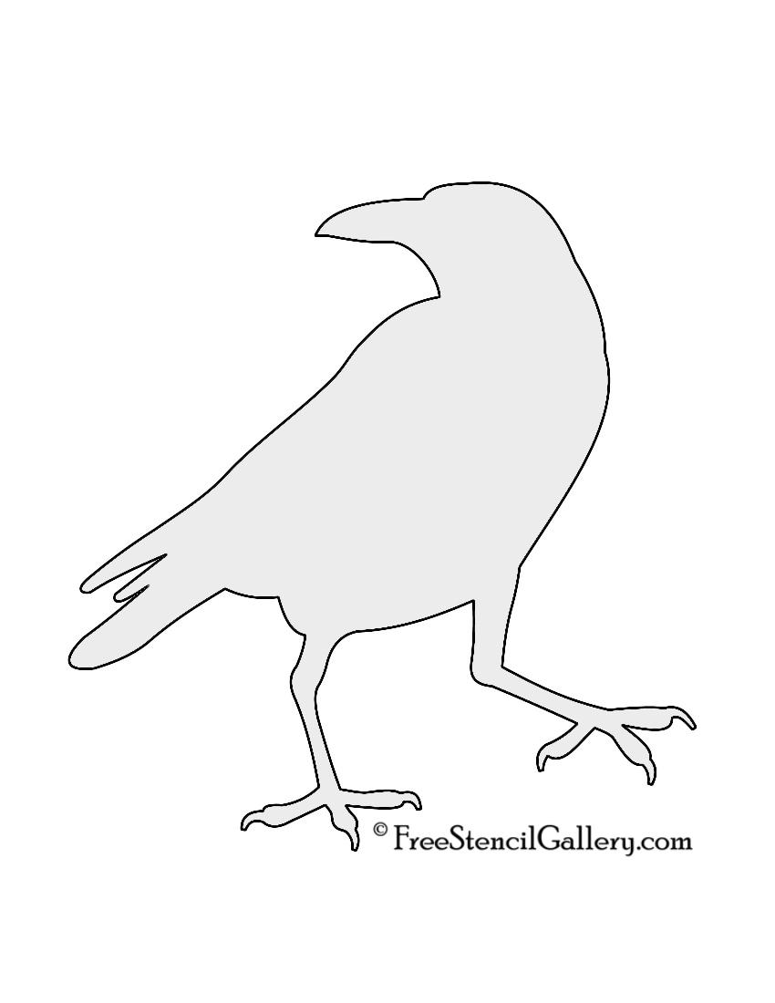 Drawn raven stencil Cut back Raven outline this