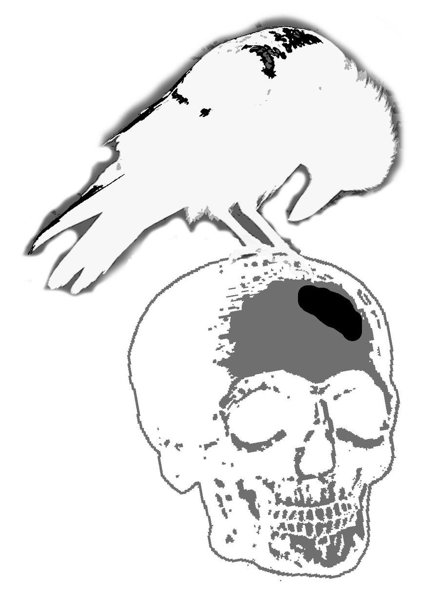 Drawn raven stencil Raven Raven by stencil blindtetra