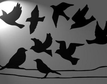 Drawn raven stencil 125 tatoo stencil micron Etsy