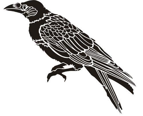 Drawn raven stencil 20 Ideas Pinterest best The