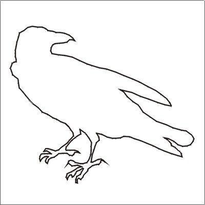 Drawn raven stencil  Halloween More Stencils Printable