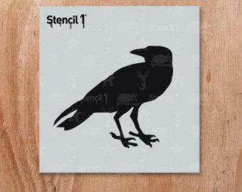 Drawn raven stencil Stencil Raven Etsy S1_01_BS01_S6 Raven