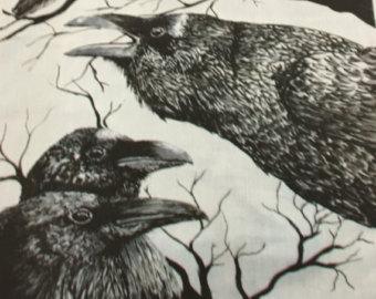 Drawn raven stuffed Cotton Cindy by White Original