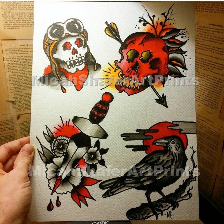 Drawn raven traditional Print Dagger Raven and Raven