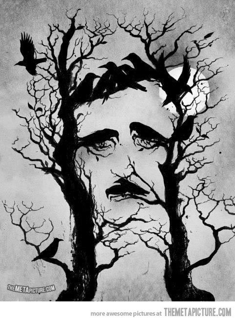 Drawn raven tree Tree… faces Ravens and Edgar's
