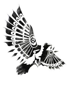 Drawn raven tribal By Filsoof; on Beads Drawing