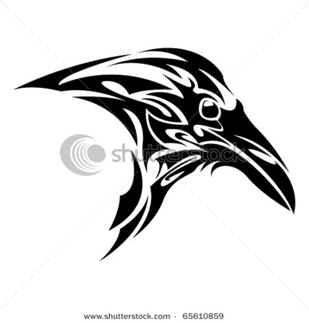 Drawn raven tribal With tribal more Pinterest