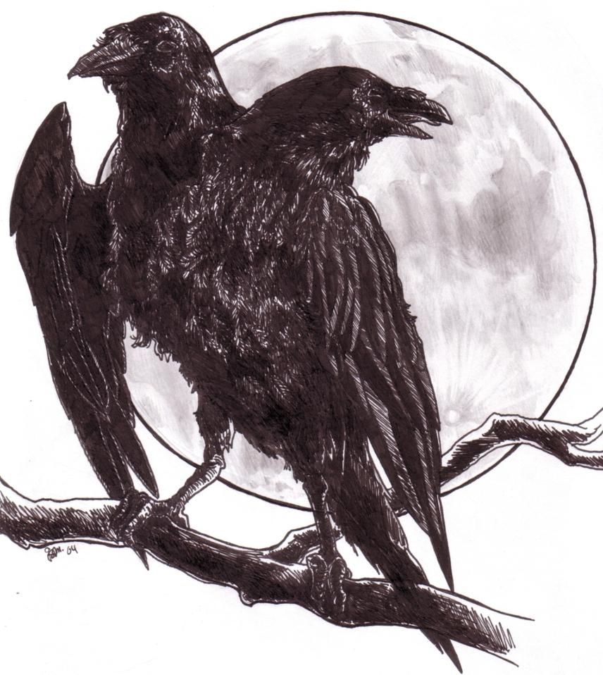Drawn raven two headed DeviantArt headed raven on two