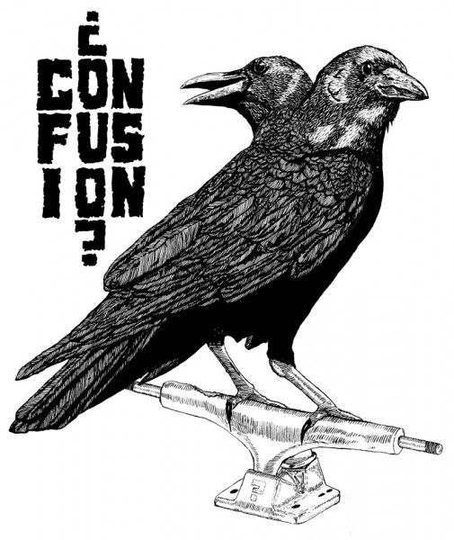 Drawn raven two headed CROW TWO  Artistry Pinterest