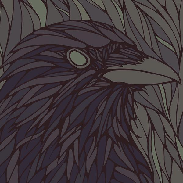 Drawn raven two headed Raven Two  on Behance