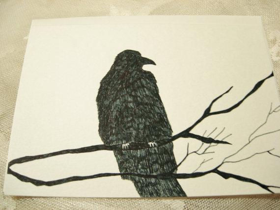 Drawn raven victorian Raven Hand Gothic Hand Art
