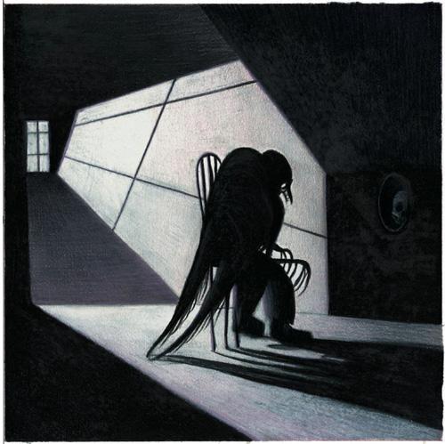 Drawn raven wicked Adaptation by Lou Edgar Allan