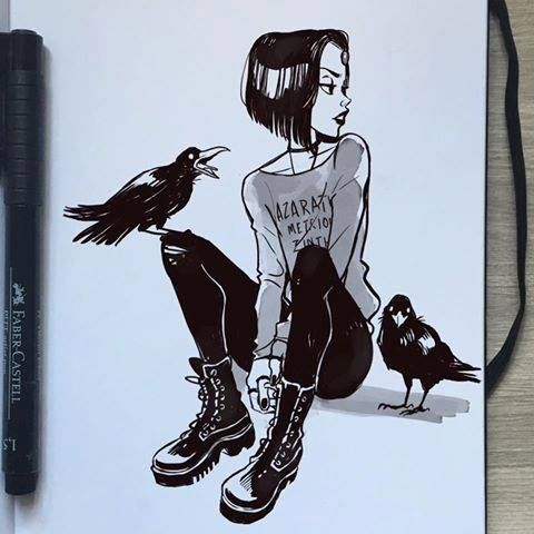 Drawn raven wicked More images Pin raven this