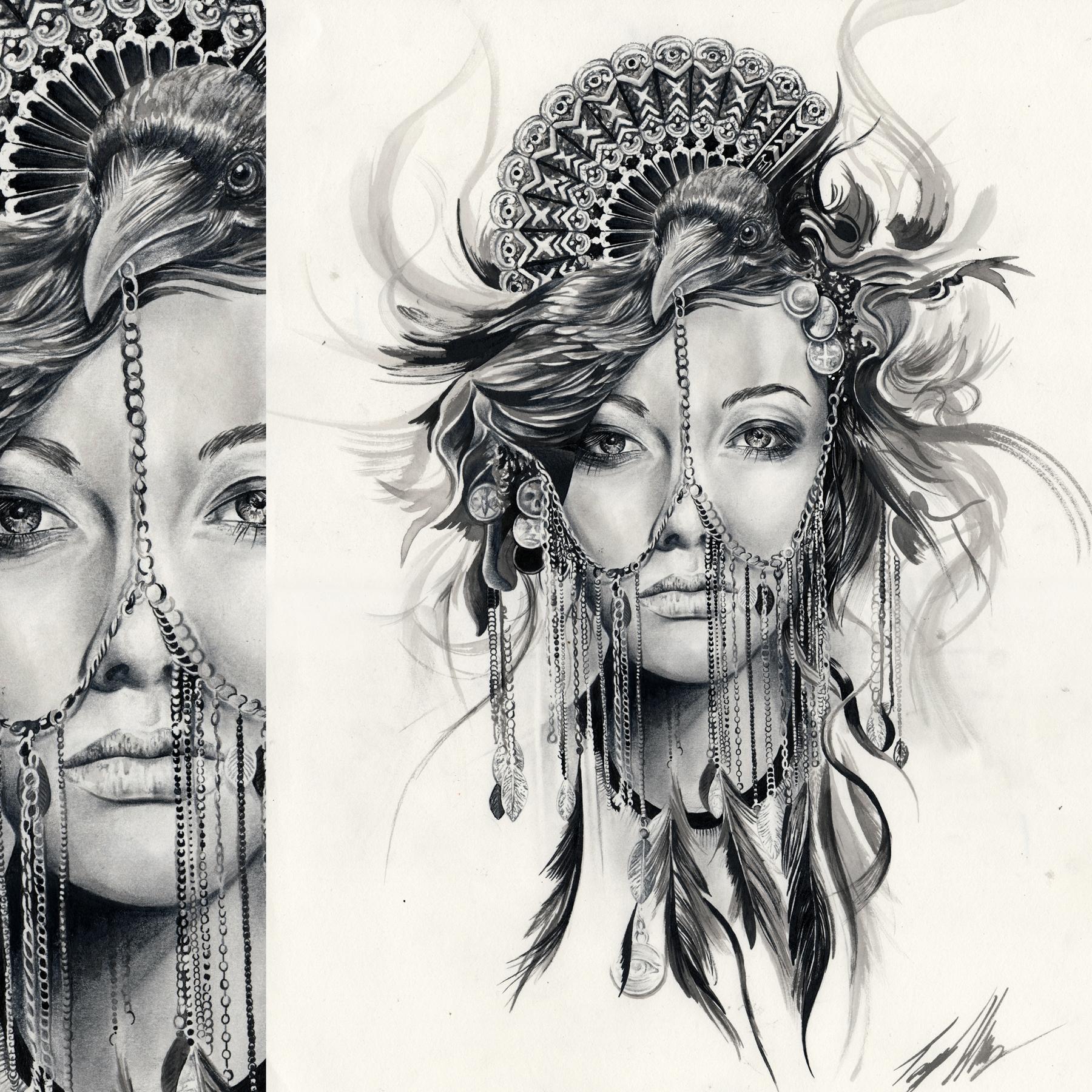 Drawn raven wicked #feathers Artwork #raven #graphite #graphite