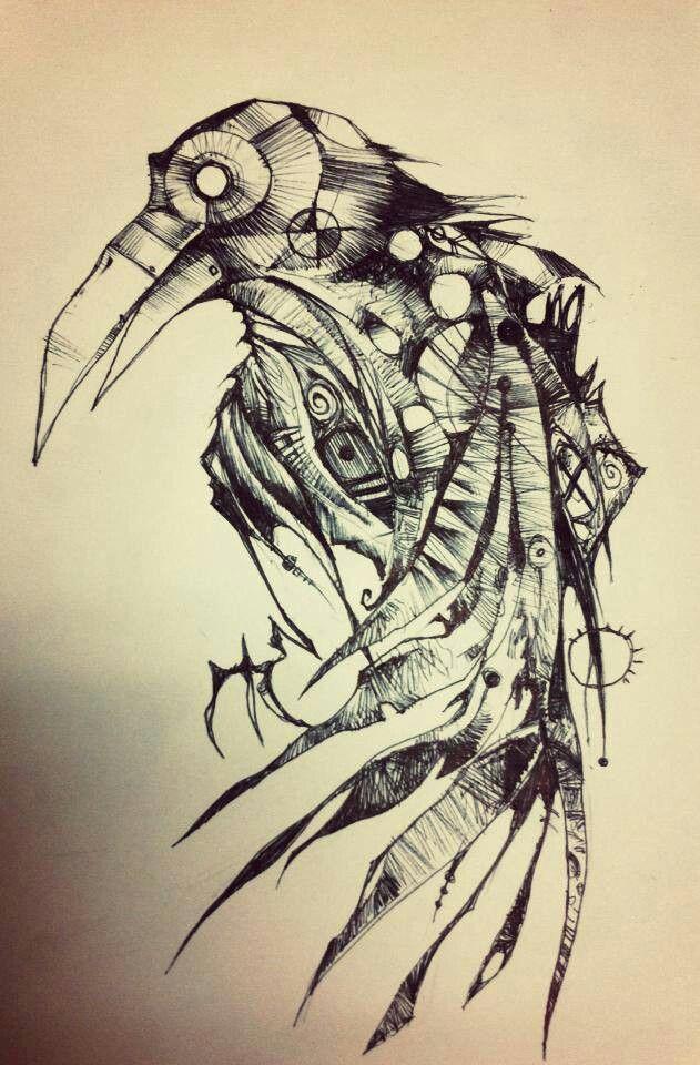 Drawn raven wicked 78 Pinterest tattoo Raven Raven
