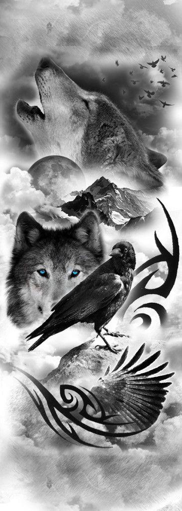 Drawn raven wolf Ideas that tattoo you 25+