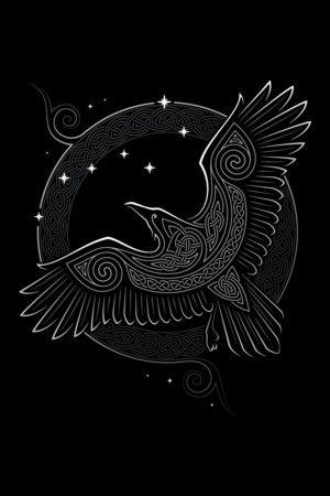 Drawn raven wolf Pinterest tattoo on NORTHERN RAVEN