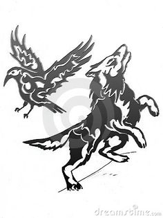 Drawn raven wolf Was originally I going from