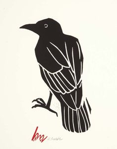 Drawn raven woodcut Find Crows  this and