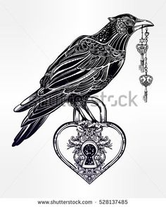 Drawn raven zodiac Hand Hand shaped drawn romantic