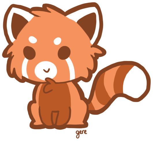 Drawn red panda To library Drawing Clipart Draw
