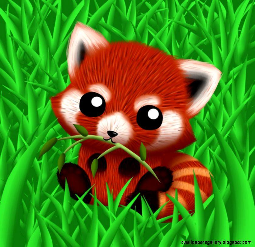 Drawn red panda adorable baby And photo#21 Chibi panda red