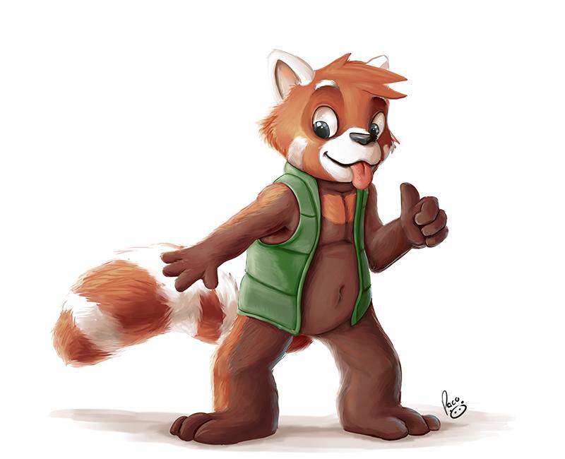 Drawn red panda anthro female Furry furry Drawing panda Red