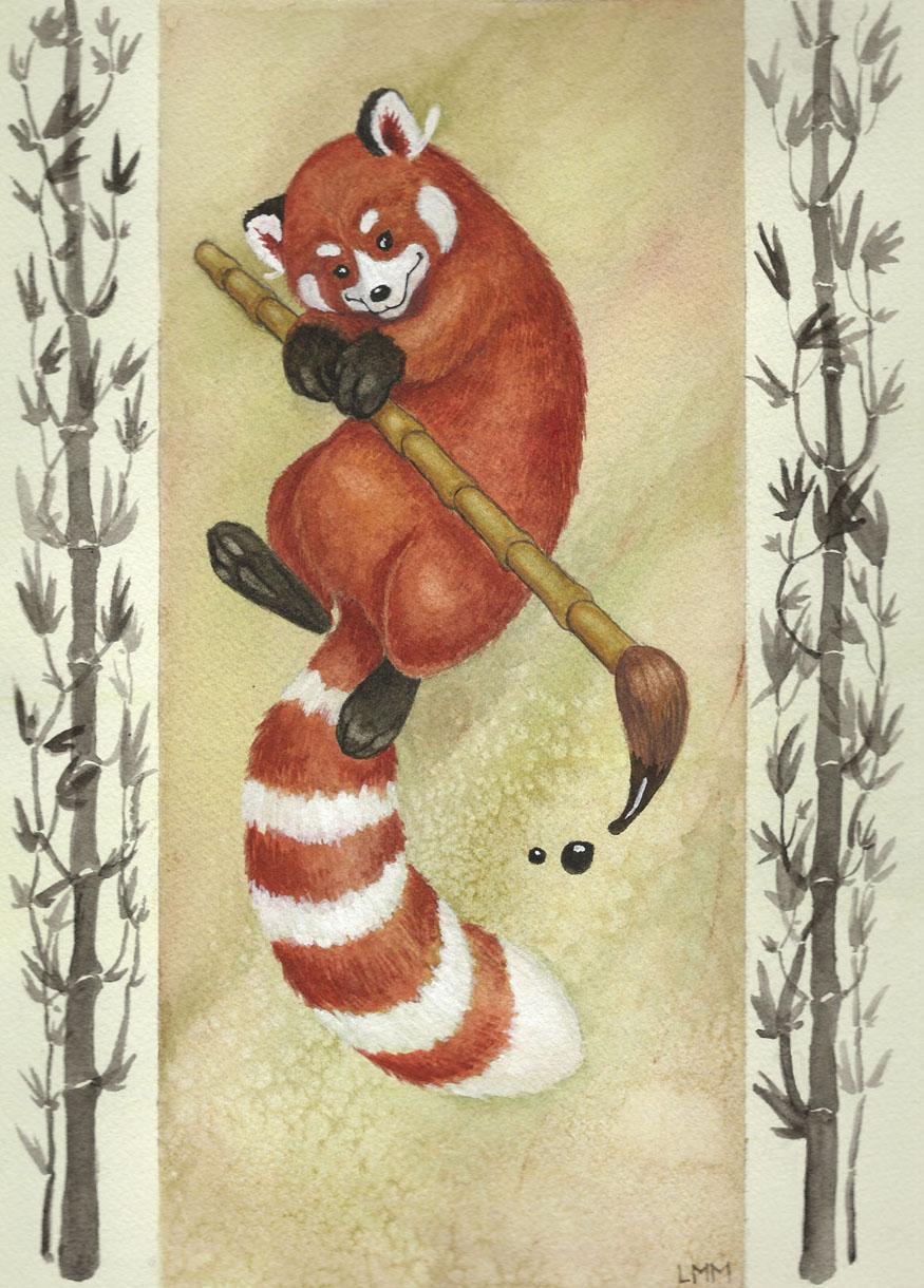 Drawn red panda china red By Panda DeviantArt Red by