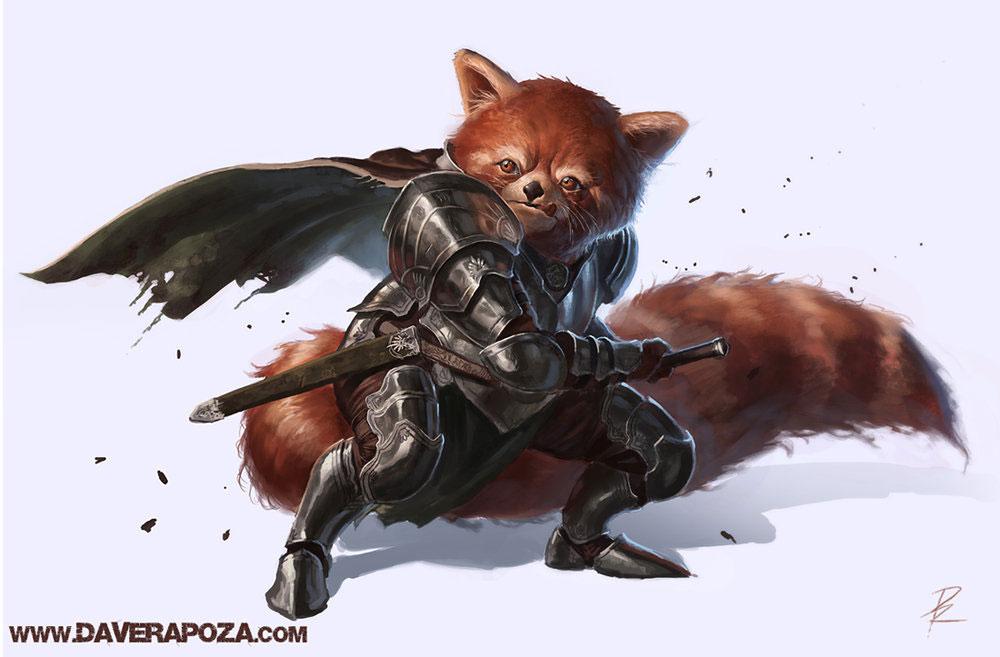 Drawn red panda epic Illustration Panda by Red David