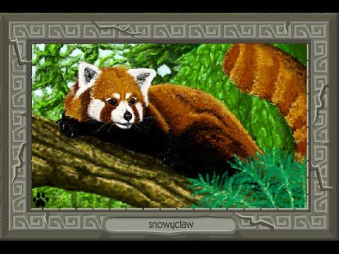 Drawn red panda epic Animal Masterpiece Panda Jam Red