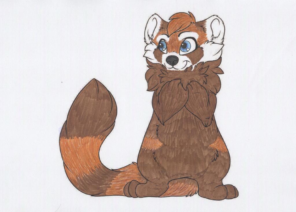 Drawn red panda fursona Furry furry panda photo#16 Red