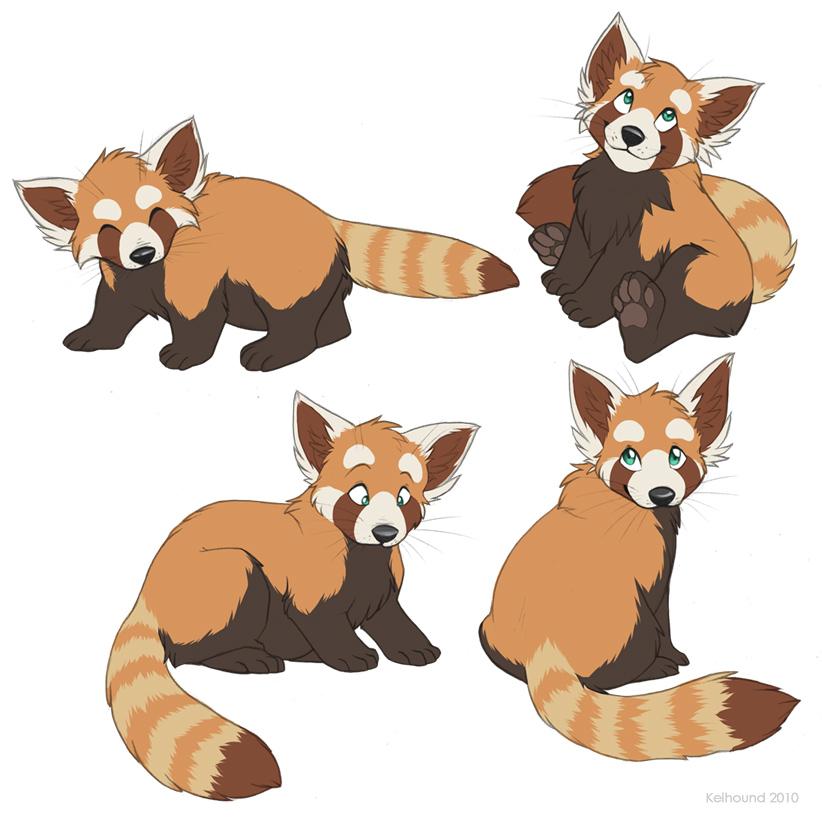 Drawn red panda fursona By Panda by Art panda