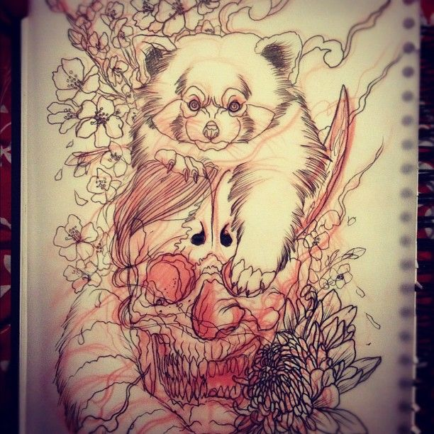 Drawn red panda japanese On Art; Pin Pinterest and