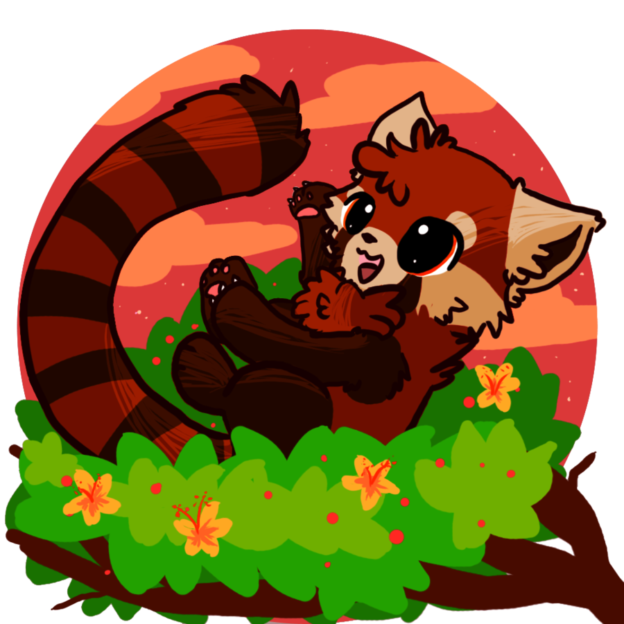 Drawn red panda kawaii Drawing Cute panda red chibi