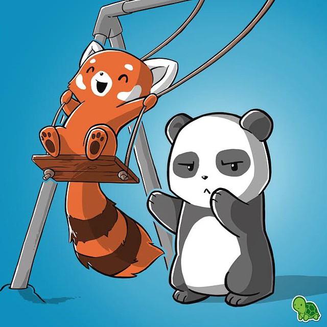 Drawn red panda kawaii Imagen Pandas Pin gamer tattoos