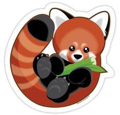 Drawn red panda kawaii PANDA!!!! ITS Panda <3