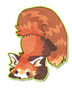 Drawn red panda really Deviantart by panda Zagrobelna Red