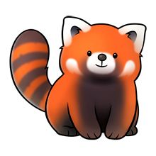 Drawn red panda sad animal Best on Pinterest red images
