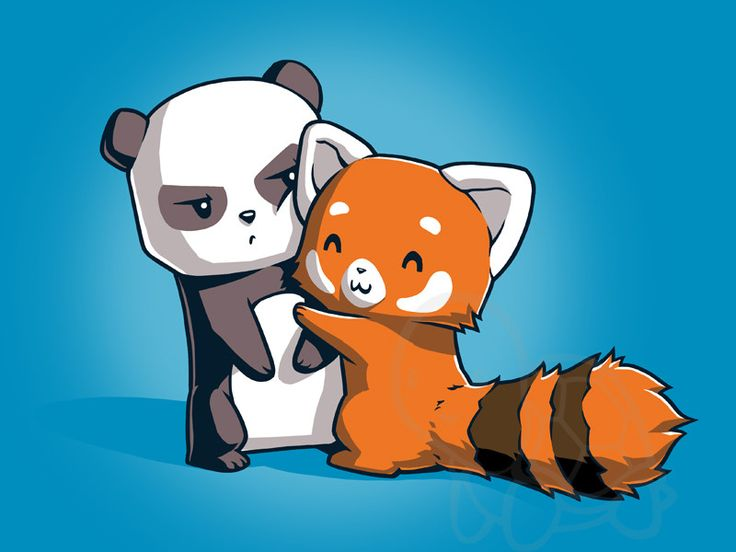 Drawn red panda sad animal Shirt big best the only