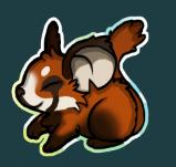 Drawn red panda transformice Http://i Transformice com/tj2Y7nZ Badges png