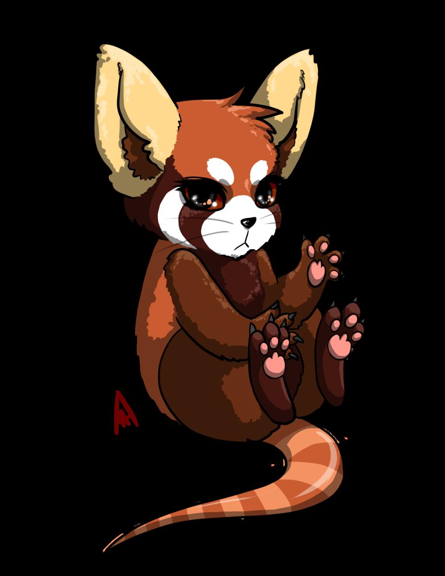 Drawn red panda transformice  KonataIdzumi Fur Panda Panda/Raccon