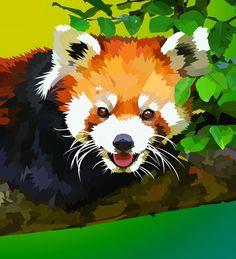 Drawn red panda tree Tree elviraNL idea cute in