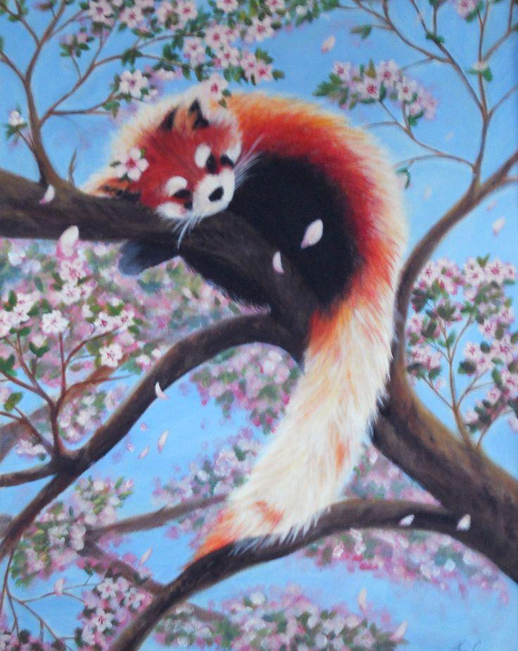 Drawn red panda tree Faeyne deviantart drawing panda by