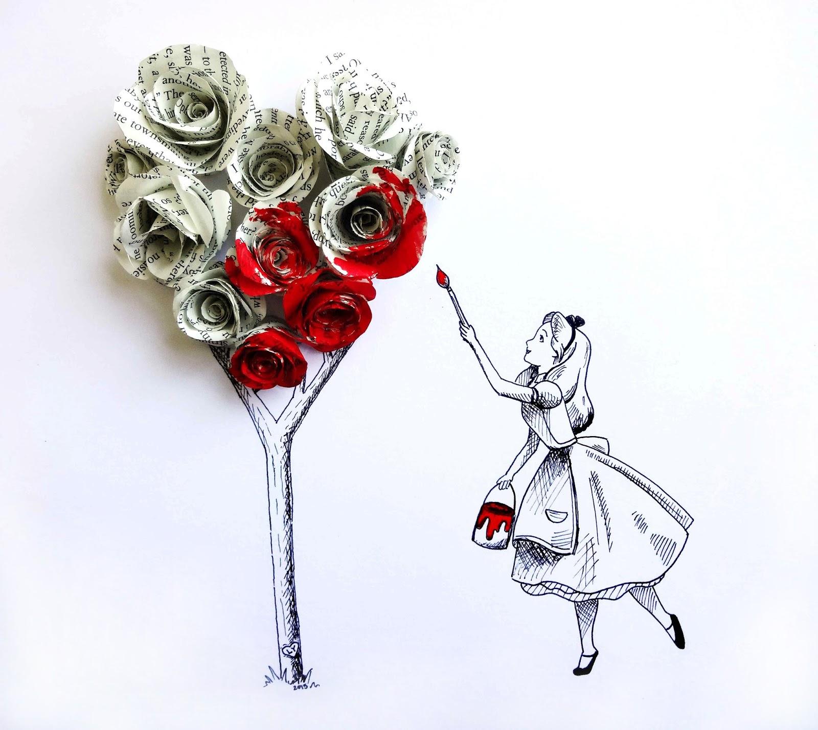 Drawn alice in wonderland rose #6