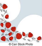 Drawn red rose art With design tile Lacquer drawn