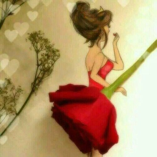 Drawn red rose art In rose best red a