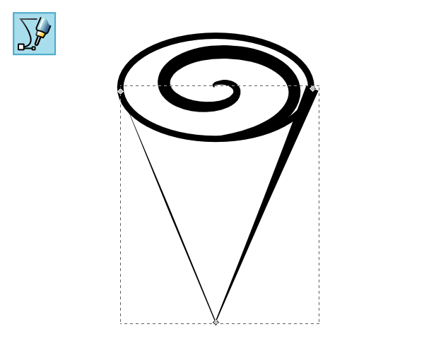 Drawn red rose base GoInkscape! How Inkscape tapered flower